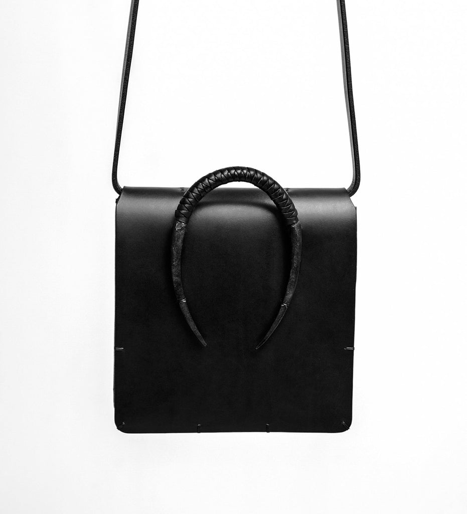 CURVED IRON SATCHEL BAG
