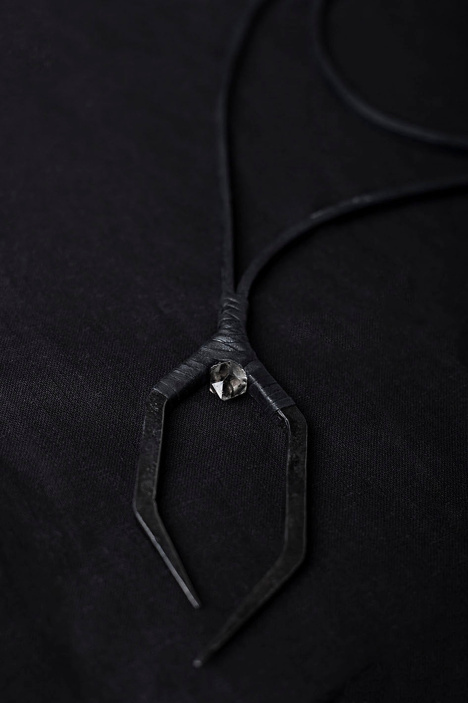 HERKIMER & IRON NECKLACE