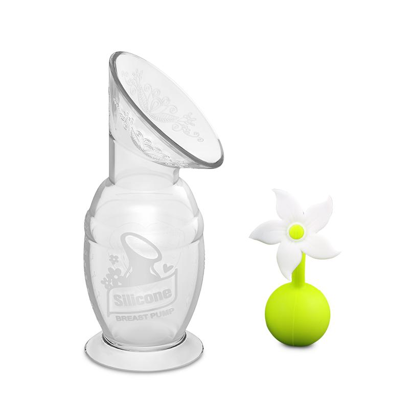 Haakaa 150ml Silicone Breast Pump and Flower Stopper Gift Box