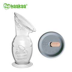 Haakaa Silicone Breast Pump - 150ml and Cap Bundle
