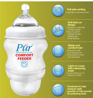 Púr Comfort Feeder Feeding Milk Bottle (8 oz./250 ml) - 2 Bottles Value Pack