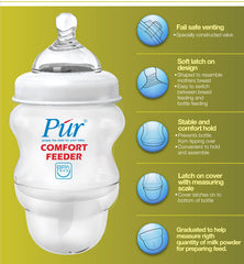Púr Comfort Feeder Feeding Milk Bottle (5 oz./130 ml) - 2 Bottles Value Pack