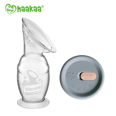 Haakaa Silicone Breast Pump - 100ml and Cap Bundle