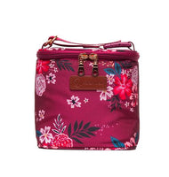 Sarah Wells Cold Gold Cooler Bag + Ice Block (Berry Bloom)