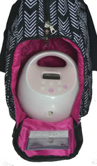 Sarah Wells Breast Pump Bag (Kelly-Black&White)