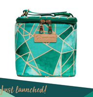 Sarah Wells Cold Gold Cooler Bag + Ice Block (Limited Edition Mosaic)