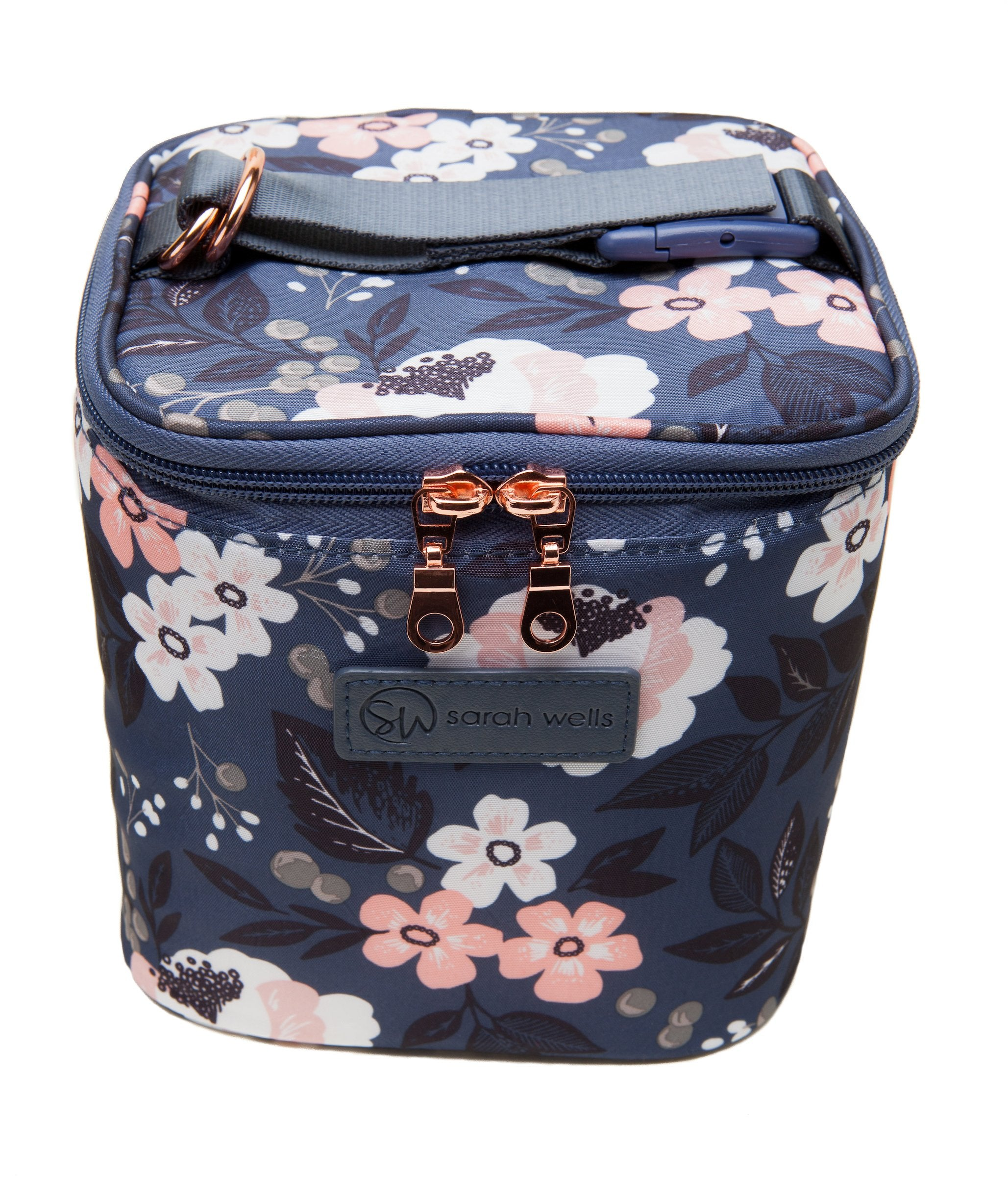 Sarah Wells Cold Gold Cooler Bag + Ice Block (Le Floral)