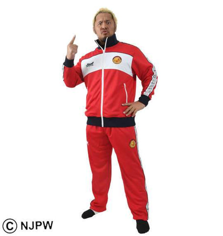 NJPW x SOUL SPORTS Red & White Tracksuit - BIG TALL JAPAN