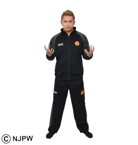 NJPW x Soul Sports Black & Gray Tracksuit - BIG TALL JAPAN