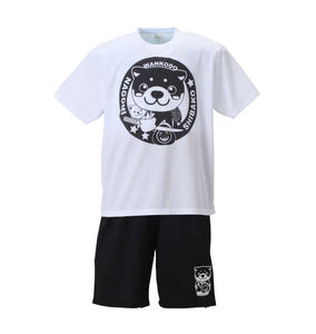 WANKODO T-Shirt & Shorts Set (Black & White) - big tall-jp.com