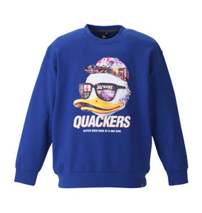 Duck Dude Quackers Crew Neck Sweatshirt - big tall-jp.com