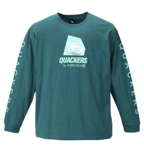 Duck Dude Logo-Print Long-Sleeve Shirt - big tall-jp.com
