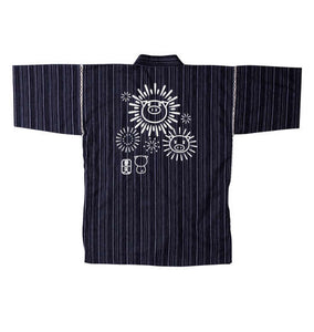 BUDEN SHOUTEN Japanese Jinbei (Navy Pinstripe) - big tall-jp.com
