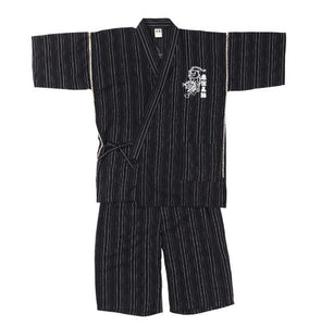 BUDEN SHOUTEN Japanese Jinbei (Black) - big tall-jp.com