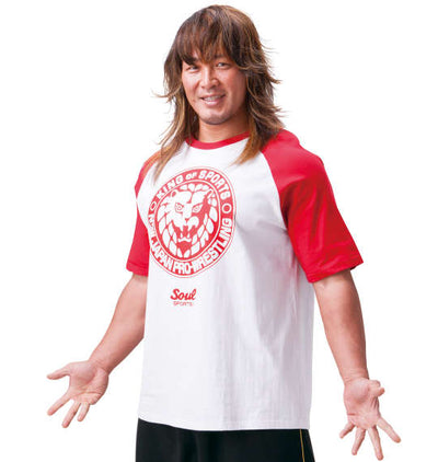 Soul Sports x NJPW Red & White Raglan T-Shirt