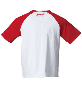Soul Sports x NJPW Red & White Raglan T-Shirt - big tall-jp.com