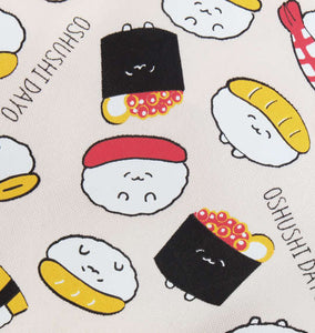 Sushi Pattern Printed Tote Bag (Accessories) - Sushi Da Yo! | BIG TALL JAPAN