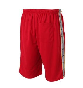 Soul Sports x NJPW Logo Printed Red Shorts (Shorts & Pants) - Official NJPW Merch | BIG TALL JAPAN