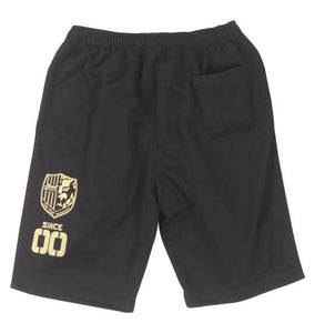 NJPW Soul Sports Black Jersey Shorts - big tall-jp.com