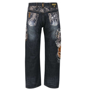 Karakuritamashii Hokuto No Ken Raoh vs Fierce Tiger Denim Pants - big tall-jp.com