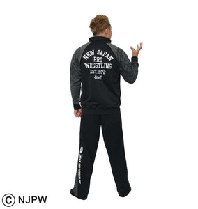 Soul Sports x NJPW Black & Gray Tracksuit - big tall-jp.com