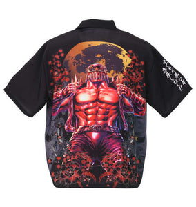 Karakuritamashii Hokuto No Ken Jagi Grudge Short Sleeve Hawaiian Shirt - big tall-jp.com