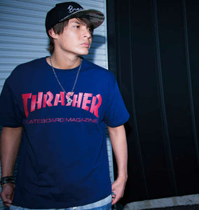 Thrasher Solid Logo Print T-Shirt - big tall-jp.com