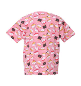 Sushi Pattern Printed Graphic T-Shirt (T-Shirts) - Sushi Da Yo! | BIG TALL JAPAN