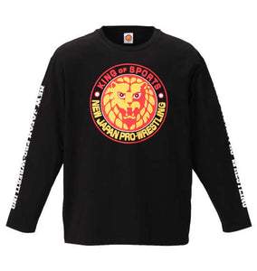 NJPW Lion Logo Long Sleeve Shirt Image 1