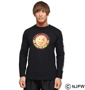 NJPW Lion Logo Long Sleeve Shirt Image 3