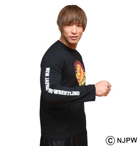 NJPW Lion Logo Long Sleeve Shirt Image 4