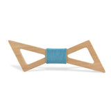 Wood Fashion by PN: Men's Wooden Bow Ties - Thunder Light - Sky Denim