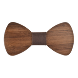 Wood Fashion by PN: Men's Wooden Bow Ties - Bear Light - Brown Denim