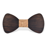 Wood Fashion by PN: Men's Wooden Bow Ties - Bear Dark - Cork