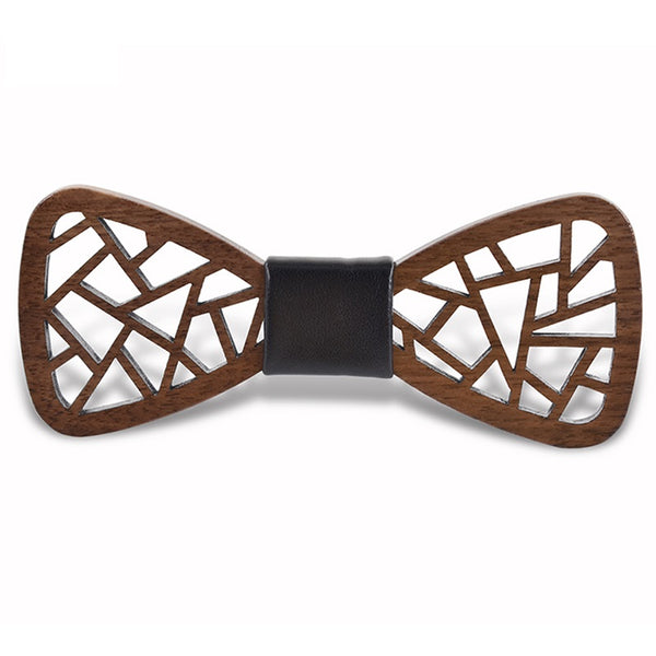 Wood Fashion by PN: Men's Wooden Bow Ties - Chaos - Dark