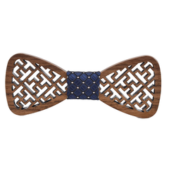 Wood Fashion by PN: Men's Wooden Bow Ties - Tetris - Dark