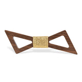 Wood Fashion by PN: Men's Wooden Bow Ties - Thunder Dark - Cork