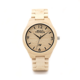 Wood Fashion by PN: Men's Wooden Watches - Owen - Flax