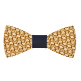 Wood Fashion by PN: Men's Wooden Bow Ties - Cube - Blue Stripe