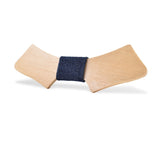Wood Fashion by PN: Men's Wooden Bow Ties - Chopper Light - Blue Denim