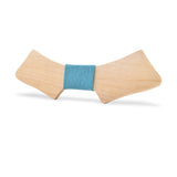 Wood Fashion by PN: Men's Wooden Bow Ties - Chopper Light - Sky Denim