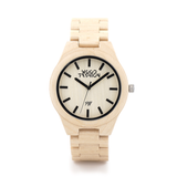 Wood Fashion by PN: Men's Wooden Watches - Owen - Cream