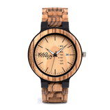 Wood Fashion by PN: Men's Wooden Watches - Brayden - Royal