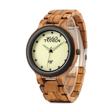 Wood Fashion by PN: Men's Wooden Watches - Keegan - Light