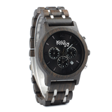 Wood Fashion by PN: Men's Wooden Watches - Connor - Dark