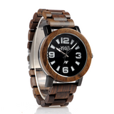 Wood Fashion by PN: Men's Wooden Watches - Cameron - Dark