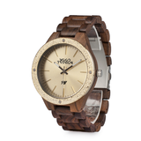 Wood Fashion by PN: Men's Wooden Watches - Caleb - Gold