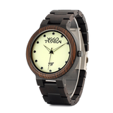 Wood Fashion by PN: Men's Wooden Watches - Keegan - Dark
