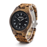 Wood Fashion by PN: Men's Wooden Watches - Logan - Light