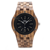 Wood Fashion by PN: Men's Wooden Watches - Miles - Light